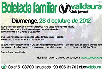 Boletada familiar 2012 - 28/10/2012 - Club Valldaura