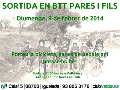Sortida BTT pares i fills (09/02/2014) - Club Valldaura