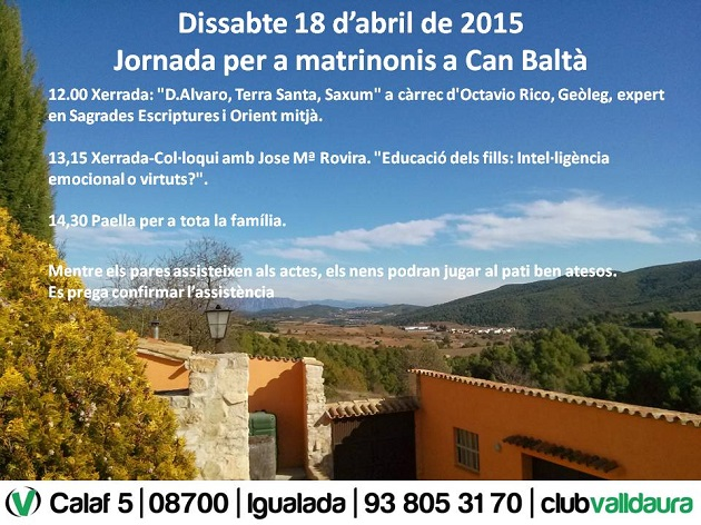 Jornada per a matrimonis a Can Baltà (18/04/2015) - Club Valldaura