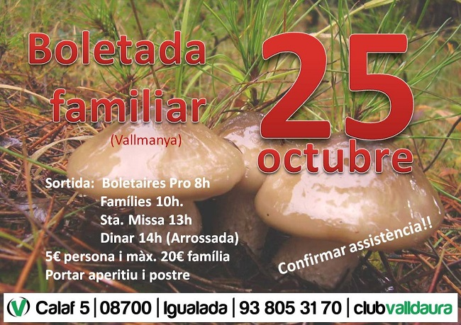 Boletada familiar (25/10/2015) - Club Valldaura