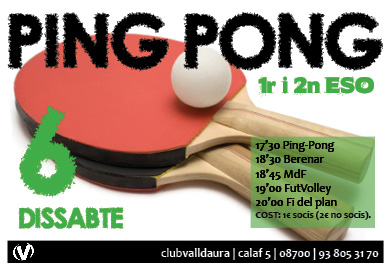 Ping-Pong - 1r i 2on ESO - Club Valldaura