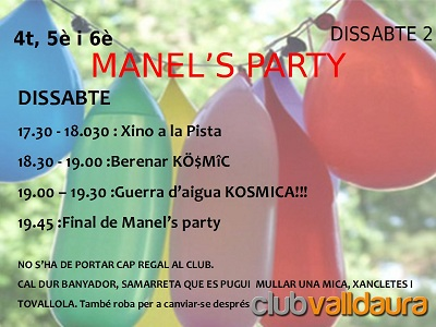 Manel's Party - Club Valldaura