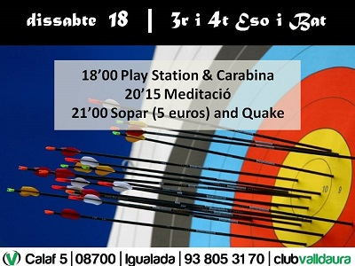 Play Station & Carabina - 3r i 4t ESO i BAT (18/01/2014) - Club Valldaura