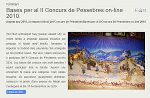 2on Concurs de Pessebres on line Club Valldaura